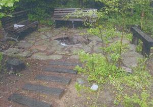八ヶ岳カントリーガーデンの施工事例:ベンチ